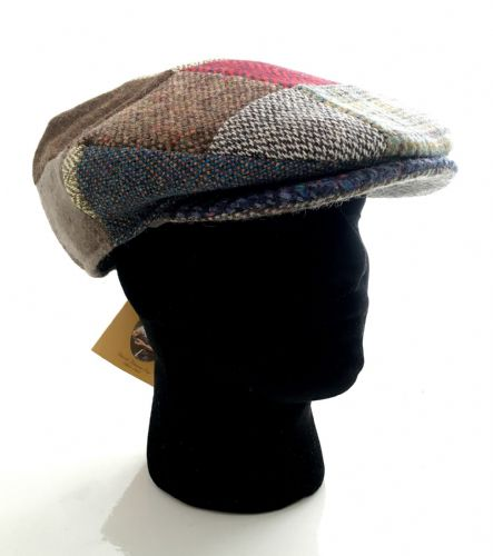 Hanna Hats Irish Tweed Patch Cap - XL (A03)